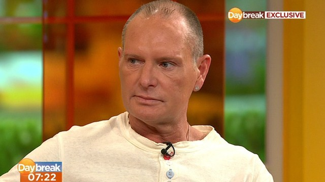 Paul Gascoigne was speaking to ITV's Daybreak