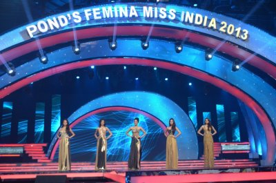 Femina Miss India 2013 top five contestants