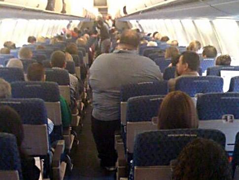 Obese flight passenger