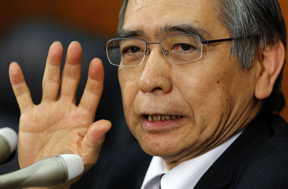 Bank of Japan Governor Kuroda speaks at a news conference