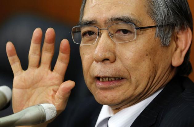 Bank of Japan Governor Kuroda speaks at a news conference