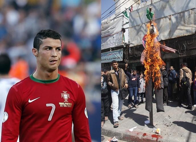 Ronaldo effigy