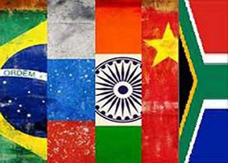 The member nations of the BRICS group (Brazil, Russia, India, China and South Africa)