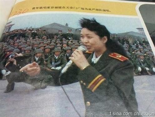 Peng Liyuan Tiananmen