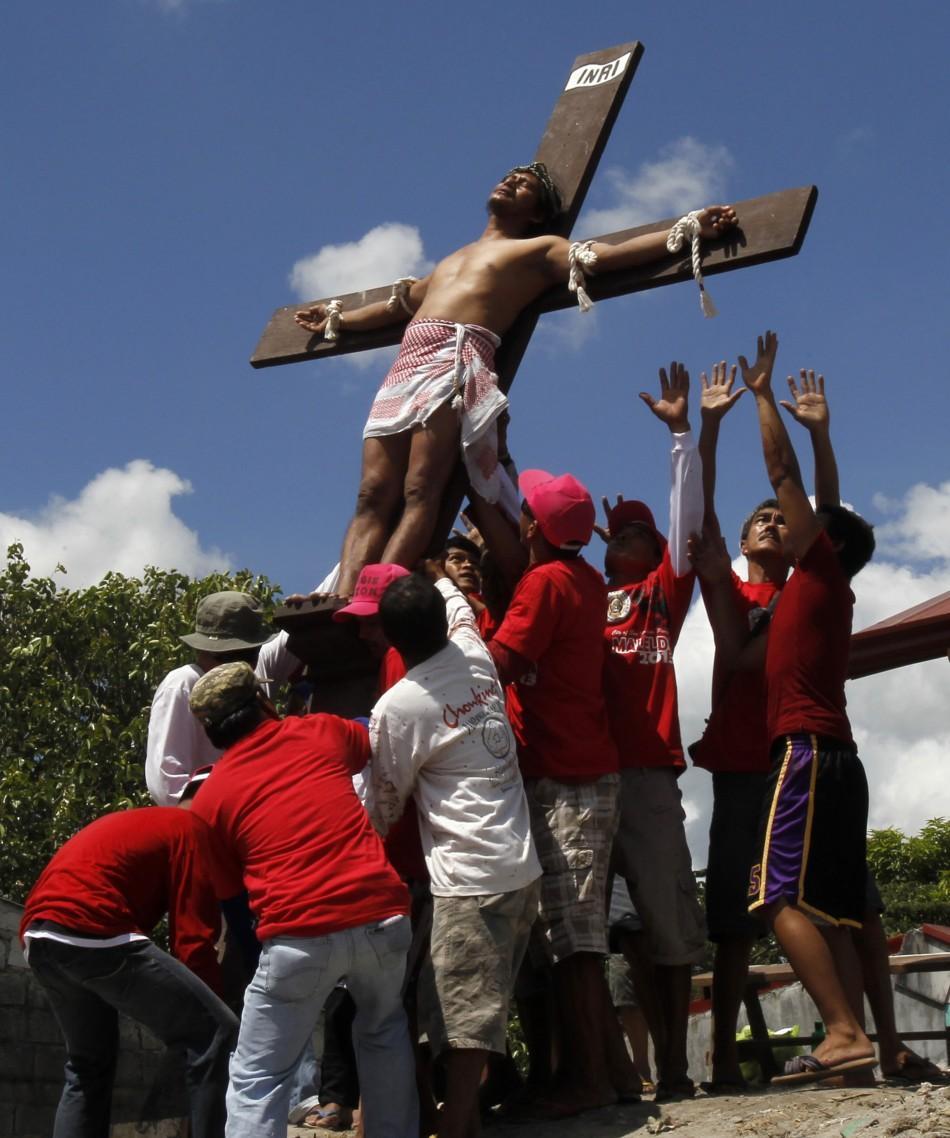Good Friday 2013 Crucifixion penance ritual