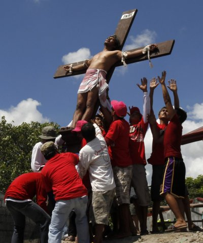 Good Friday 2013 Crucifixion penance ritual