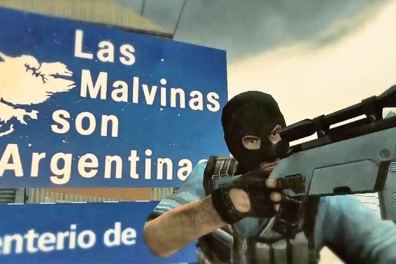 Scene from the Counter Strike Falklands game