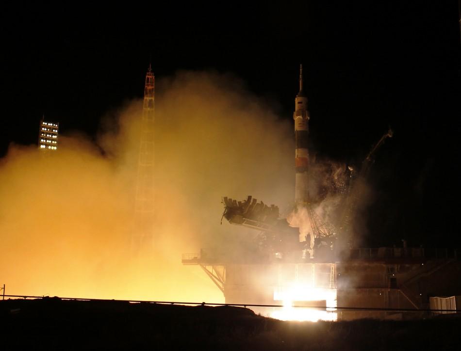 ISS blast off