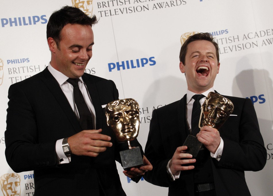 Ant and Dec won the 'Entertainment Performance' gong for their show I'm A Celebrity Get Me Out of Here at the Royal Television Society Awards in 2013