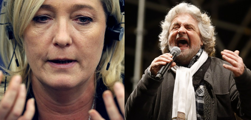 Le Pen and Grillo