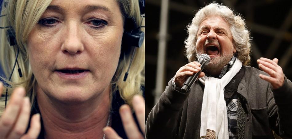 Le Pen and Grillo