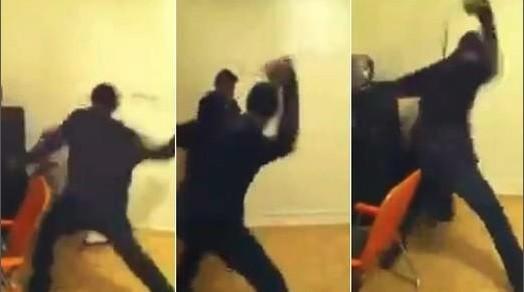 Man beats daughters