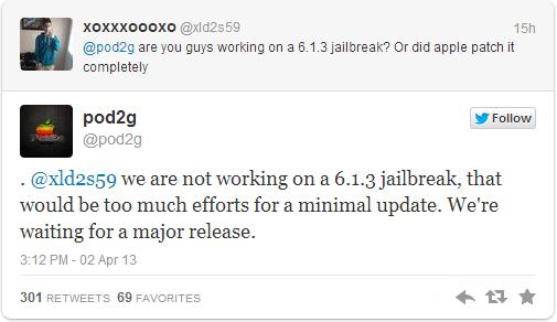 iOS 6.1.3 Untethered Jailbreak Status