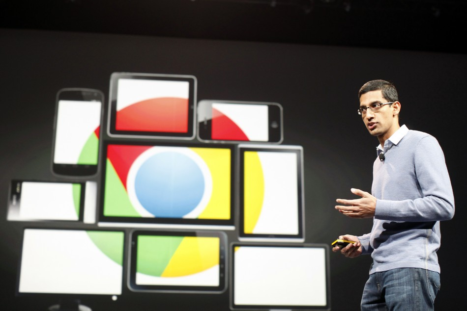 Head of Chrome Sundar Pichai