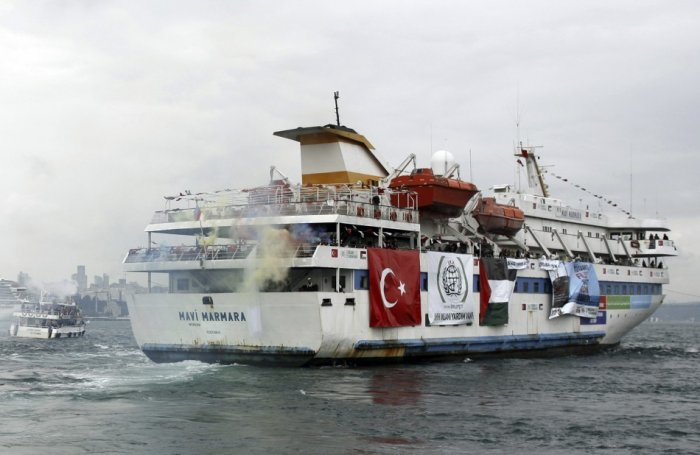 Turkish ship Mavi Marmara, carrying pro-Palestinian activists to take part of a humanitarian convoy (Reuters)