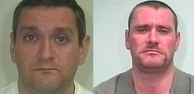 Nicholas McFadden (L) has been jailed along with his brother Simon (R)