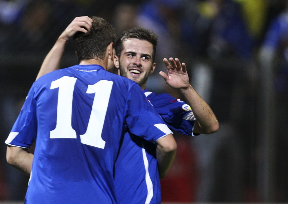 Edin Dzeko and Miralem Pjanic