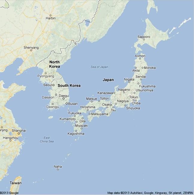 Japan - South Korea territorial dispute