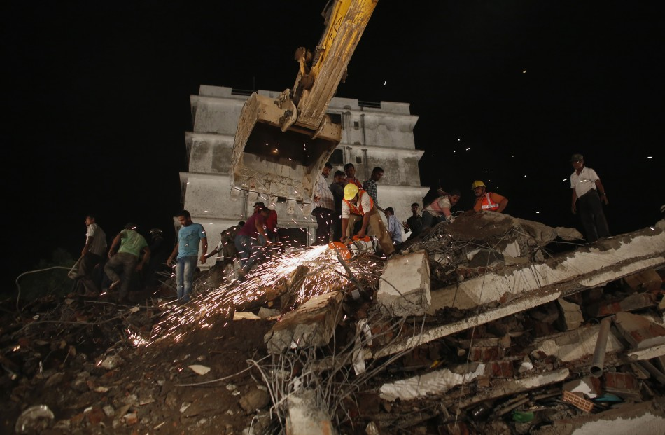 Building Collapse in Mumbai, India