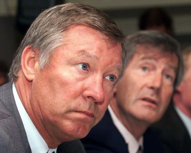 Sir Alex Ferguson and Martin Edwards