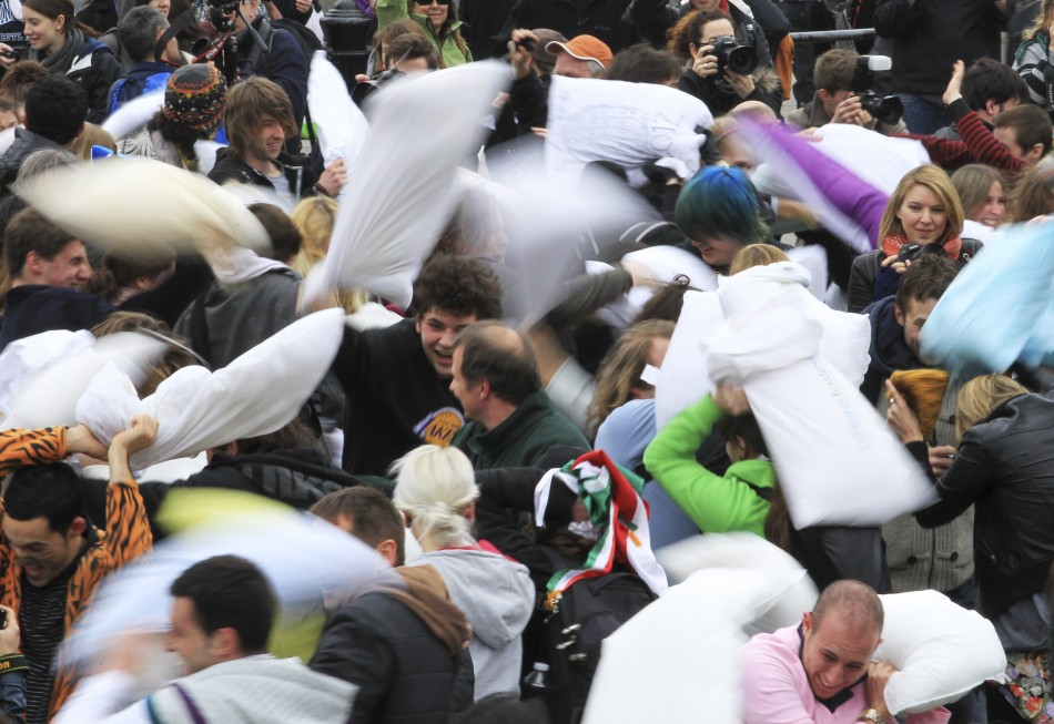 The 2012 International Pillow Fight Day in London