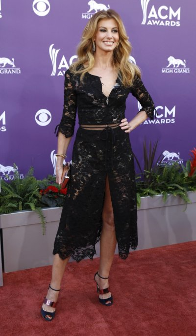 Singer Faith Hill arrives at the 48th ACM Awards in Las Vegas, April 7, 2013