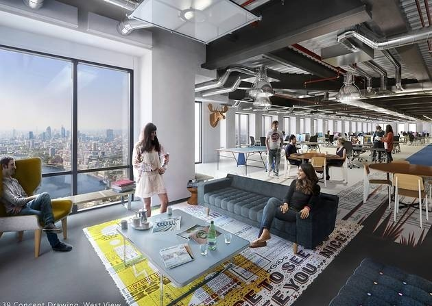Location location location why desks at level 39 are - Interior design colleges in london ...