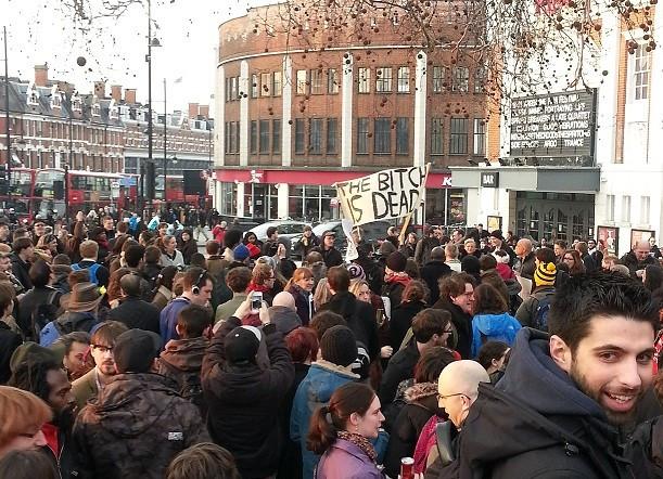 Celebration of death in Brixton PIC: Ewan Palmer