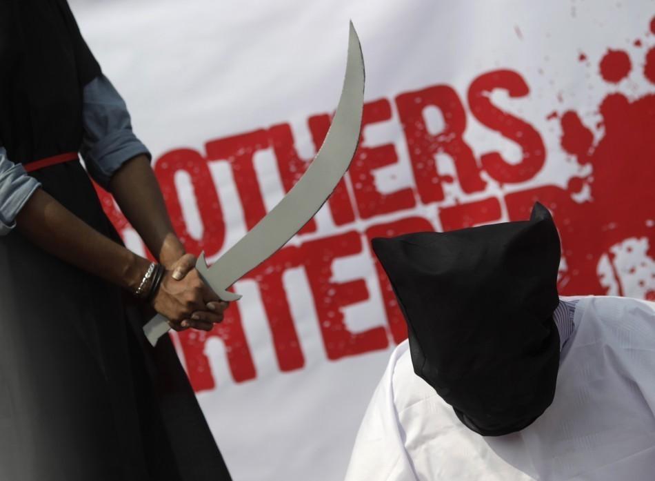 Saudi Arabia Punishments (Mock Execution) Image Credit: Reuters