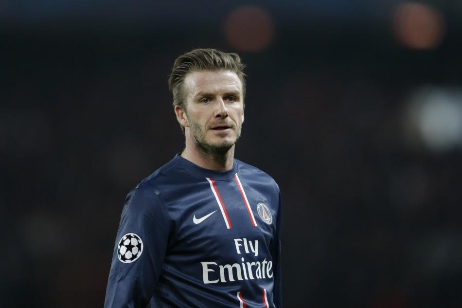 Former Real Madrid star David Beckham returns to Camp Nou