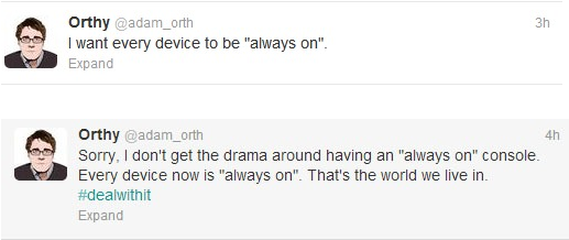 Adam Orth always on tweets