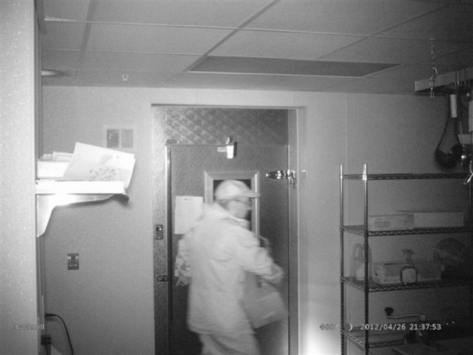 Christopher Knight is shown in this 2012 surveillance photo from a private dwelling break-in (Reuters)