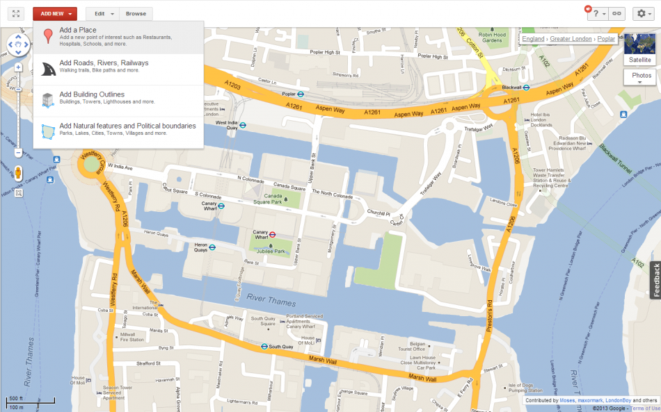 Google Map Editing arrives in UK