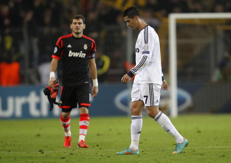Iker Casillas (L) and Cristiano Ronaldo