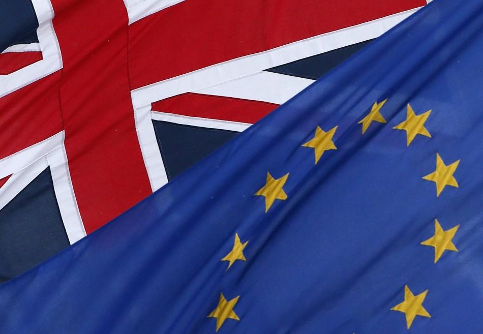 EU Union Jack flags
