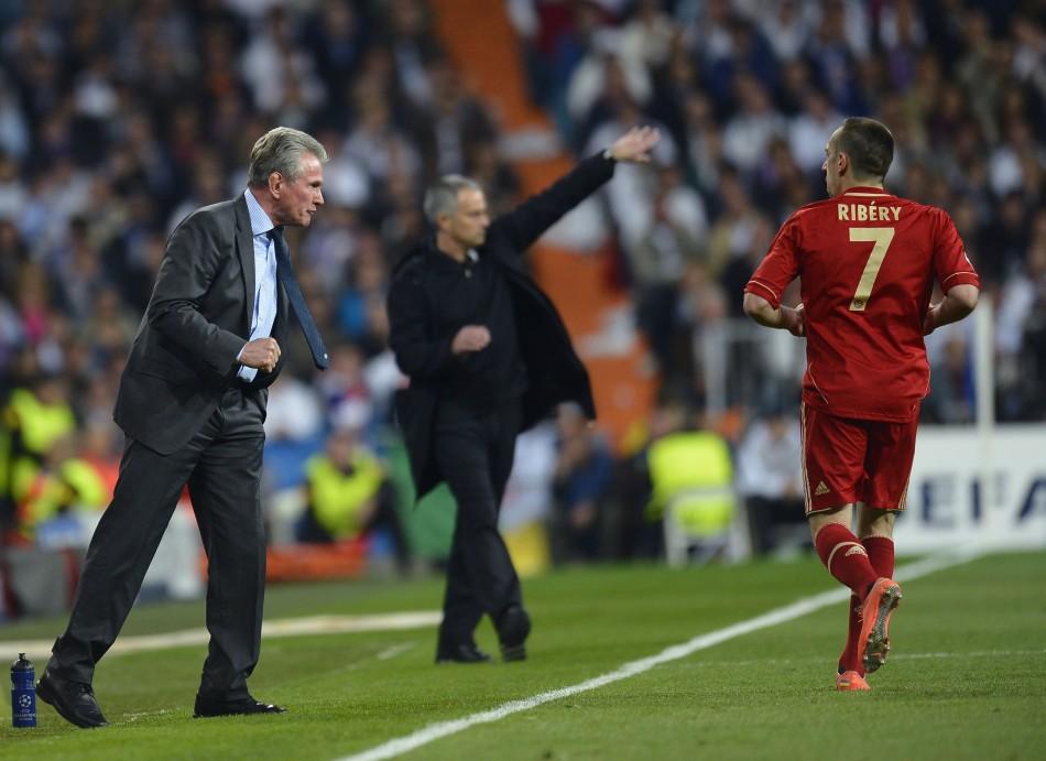 Yupp Heynckes and Jose Mourinho