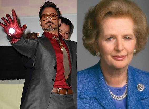 Robert Downey Junior and Margaret Thatcher