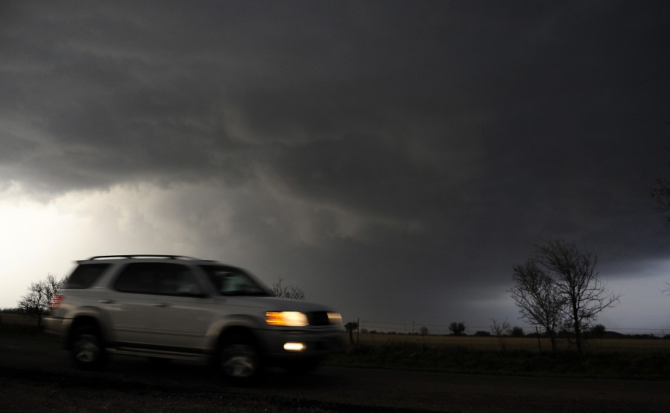rotating supercell storm