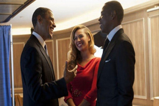 Obama, Beyonce and Jay-Z