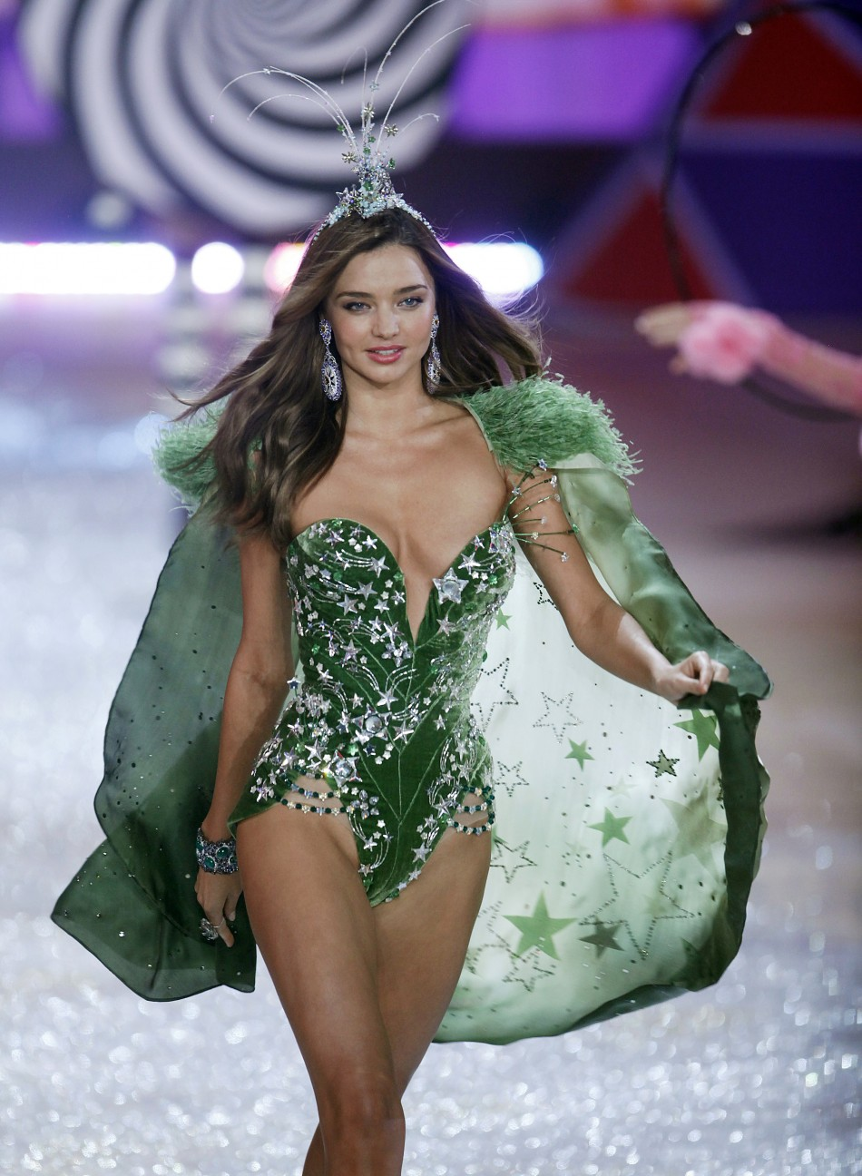 c222a9c9b6 Miranda Kerr Denies She s Being Dropped by Victoria s Secret Model Miranda  Kerr presents a creation during the Victoria s Secret Fashion Show in New  York
