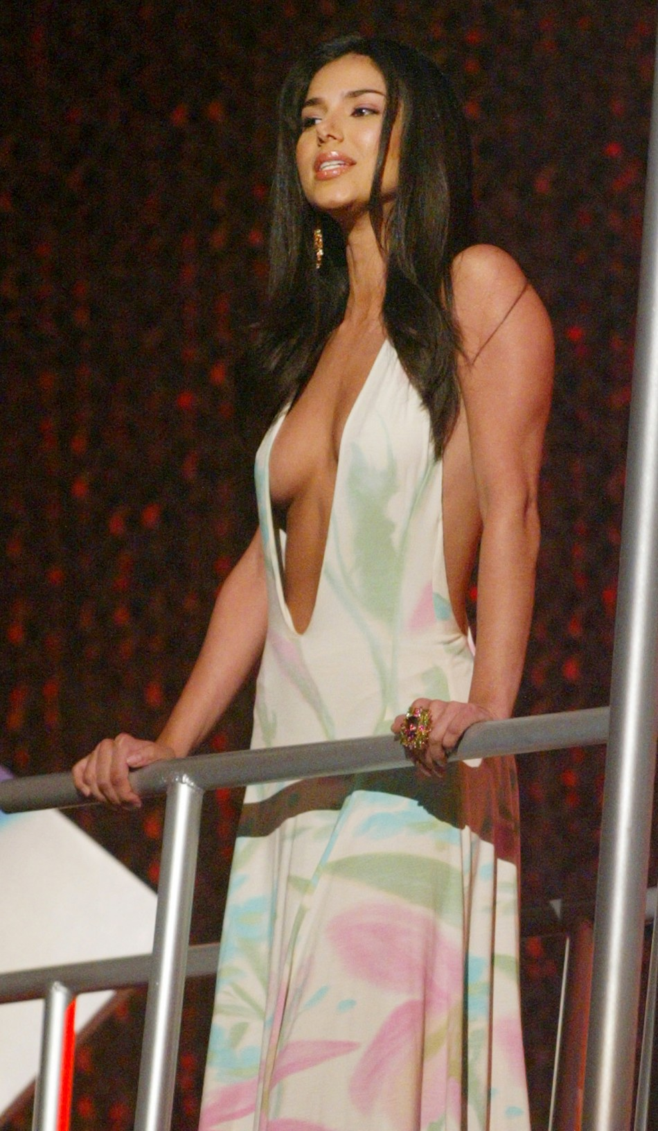 Actress Rosalyn Sanchez, star of the film Chasing Papi act as a presenter at the 2003 MTV Movie Awards which were taped in Los Angeles May 31, 2003.