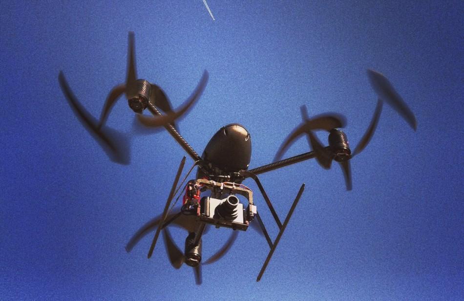 Mini-drone in action