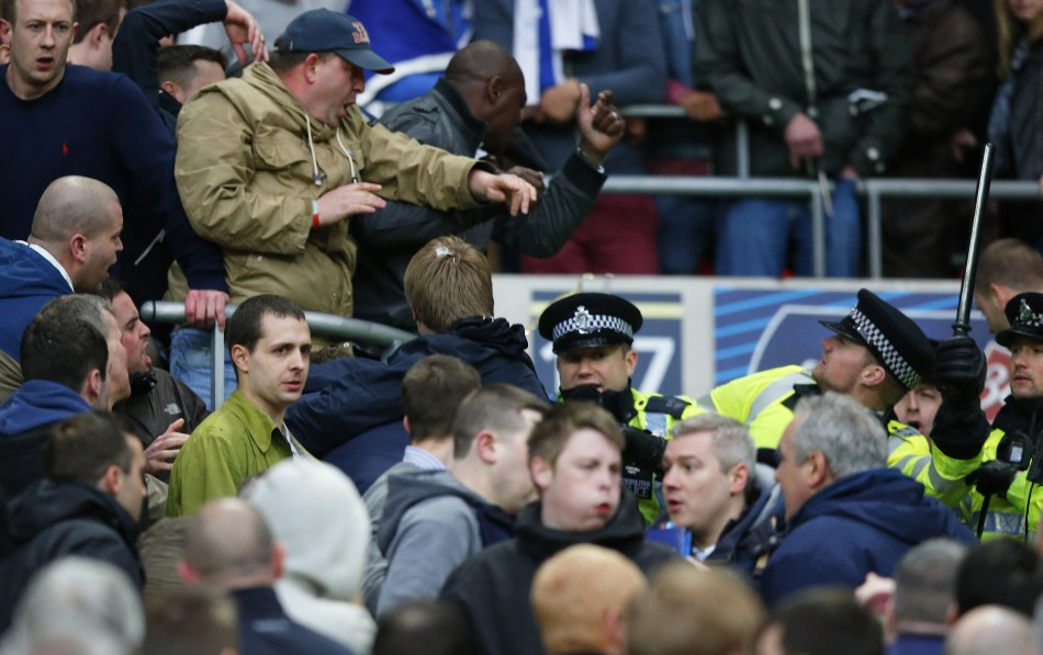 Trouble flared at Wembley among Millwall fans