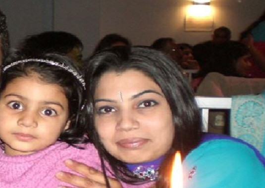 Heena Solanki with her daughter PIC: Facebook
