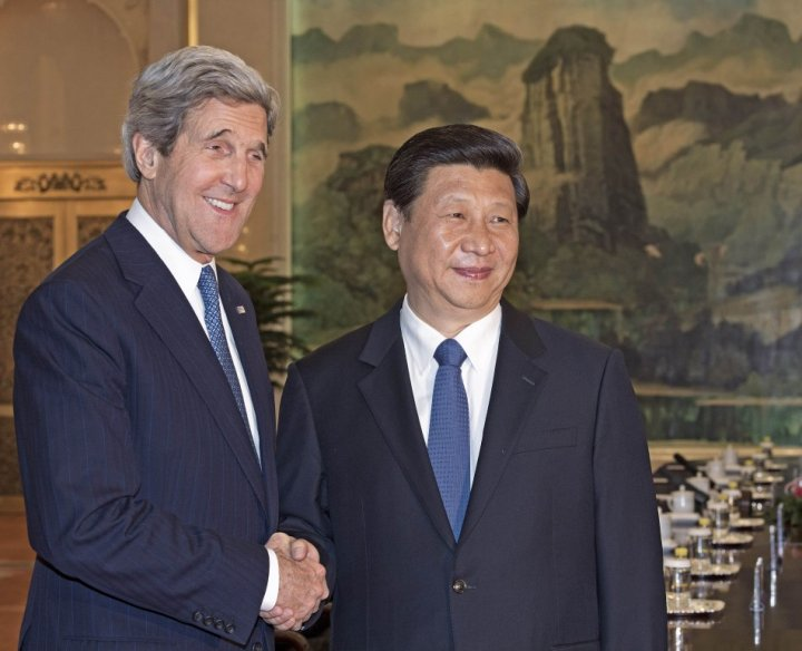 Kerry with Chinese Communist Premier Xi Jinping