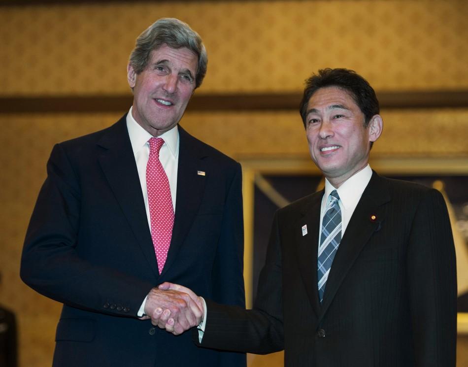 Kerry with Japanese Foreign Minister Fumio Kishida