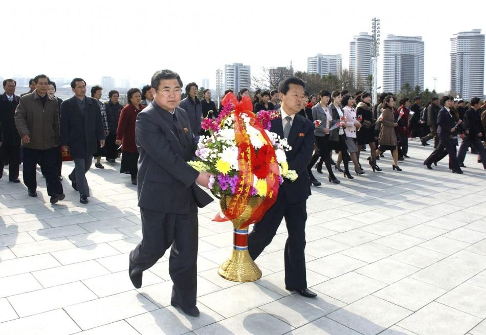 North Korea marks founder's birthday