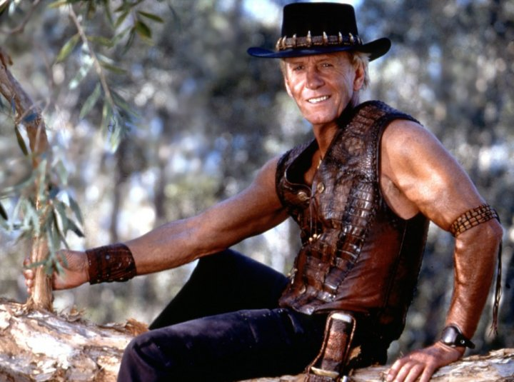 Hogan in his Crocodile Dundee heyday