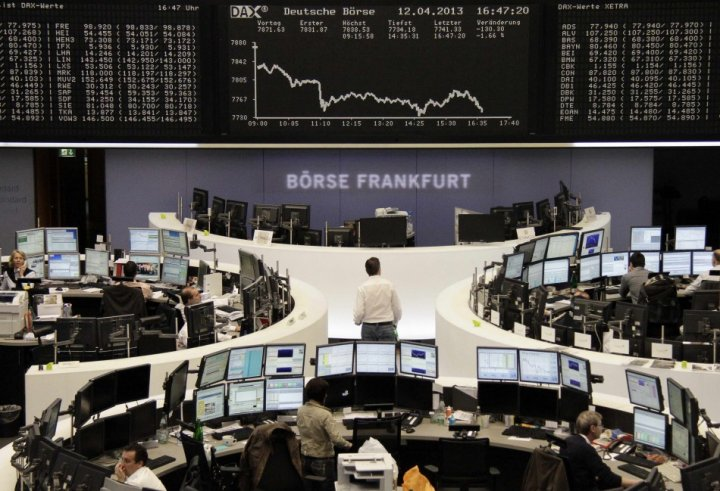 DAX board at the Frankfurt stock exchange