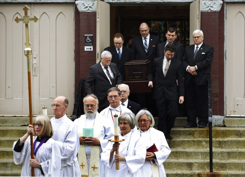 The funeral of Rehtaeh Parsons takes place at St. Mark's Anglican church in Halifax, Nova Scotia (Reuters)